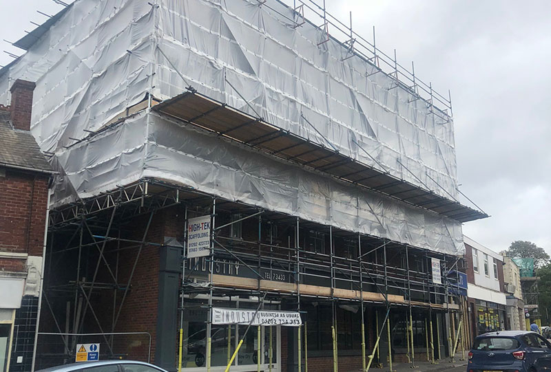 Commercial Road Scaffolding - Portfolio High-Tek Scaffolding Ltd