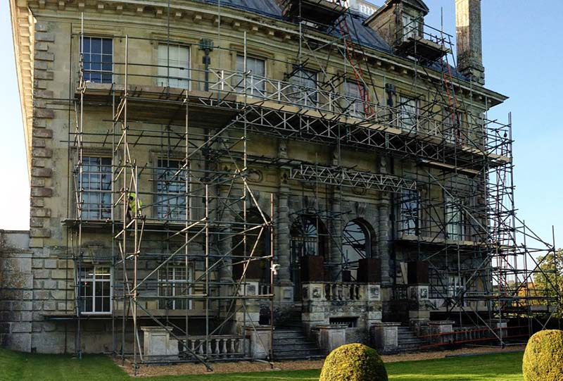 Kingston Lacy Scaffolding - Portfolio High-Tek Scaffolding Ltd