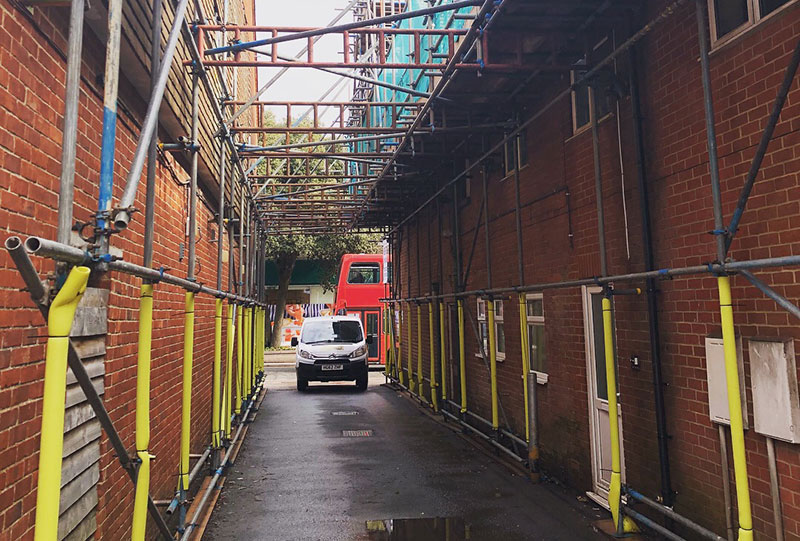 New Milton Access Scaffolding - Portfolio High-Tek Scaffolding Ltd