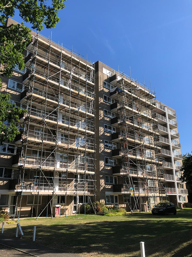 Bourne Pines Bournemouth Scaffolding - Portfolio High-Tek Scaffolding Ltd